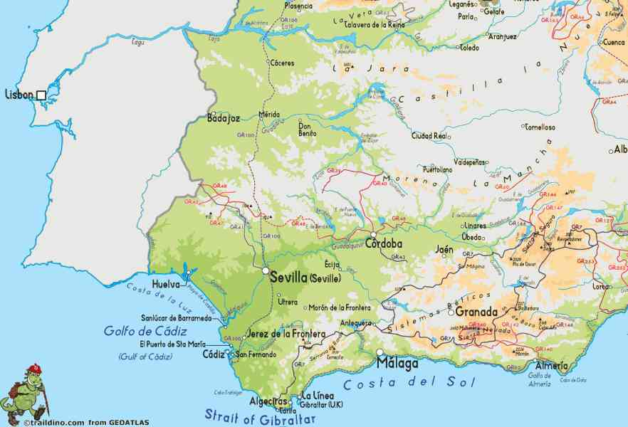 map of south spain 269 Map Of South Spain