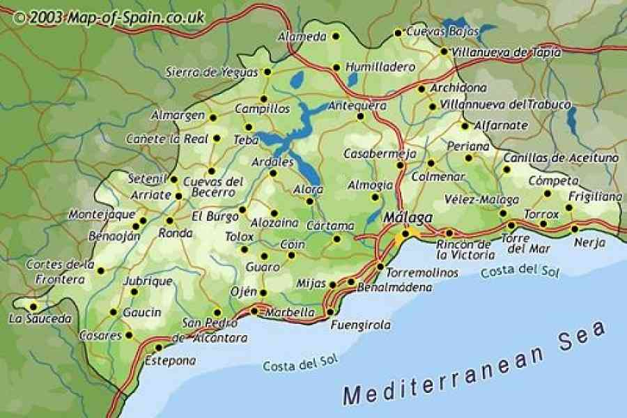map of south spain 88 Map Of South Spain