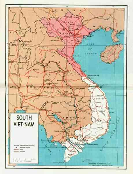 map of south viet nam 23 Map Of South Viet Nam
