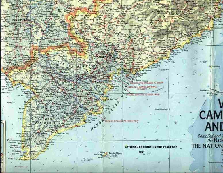 map of south viet nam 460 Map Of South Viet Nam