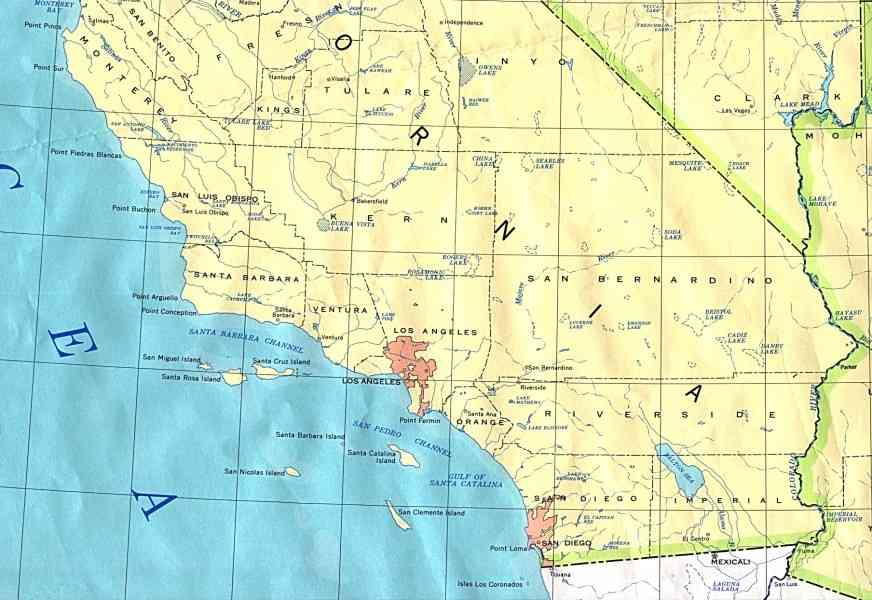 map of southern california 10 Map Of Southern California
