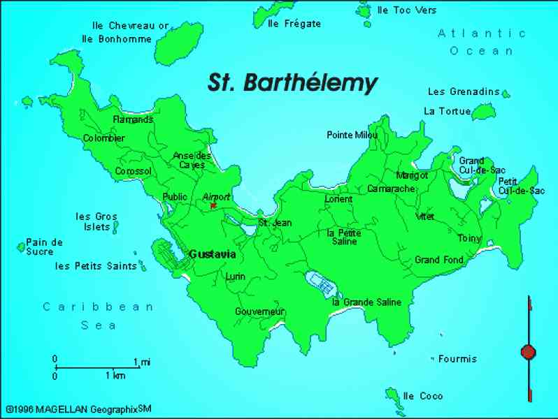 map of st bart 106 Map Of St Bart