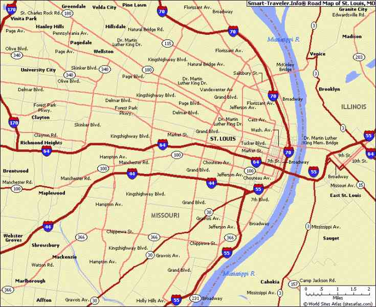 Map Of St Louis Mo 58 Map Of St Louis Mo