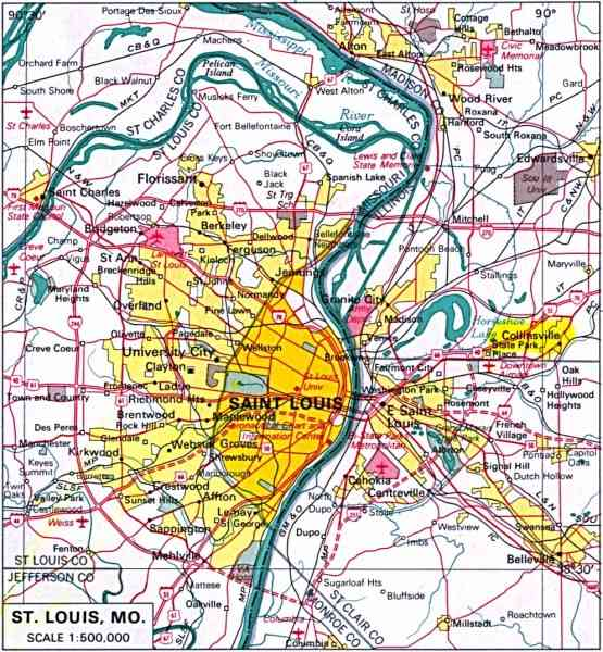 Map Of St Louis Mo 36 Map Of St Louis Mo