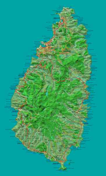 map of st lucia 110 Map Of St Lucia