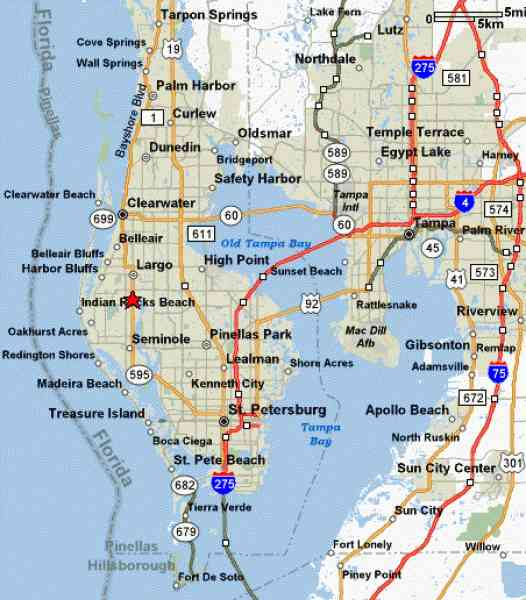 Map Of Stpetersburg Fl Map Holiday Travel HolidayMapQcom - Map of florida cities near tampa