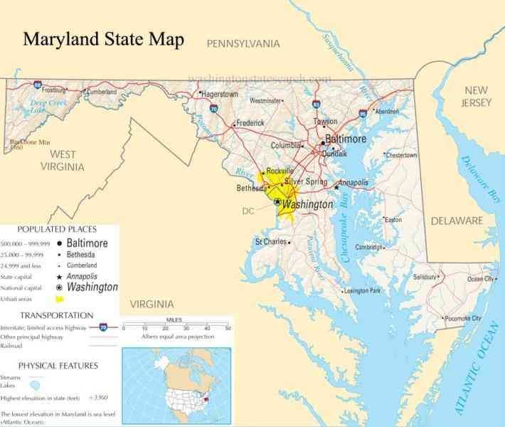 map of state of maryland 35 Map Of State Of Maryland