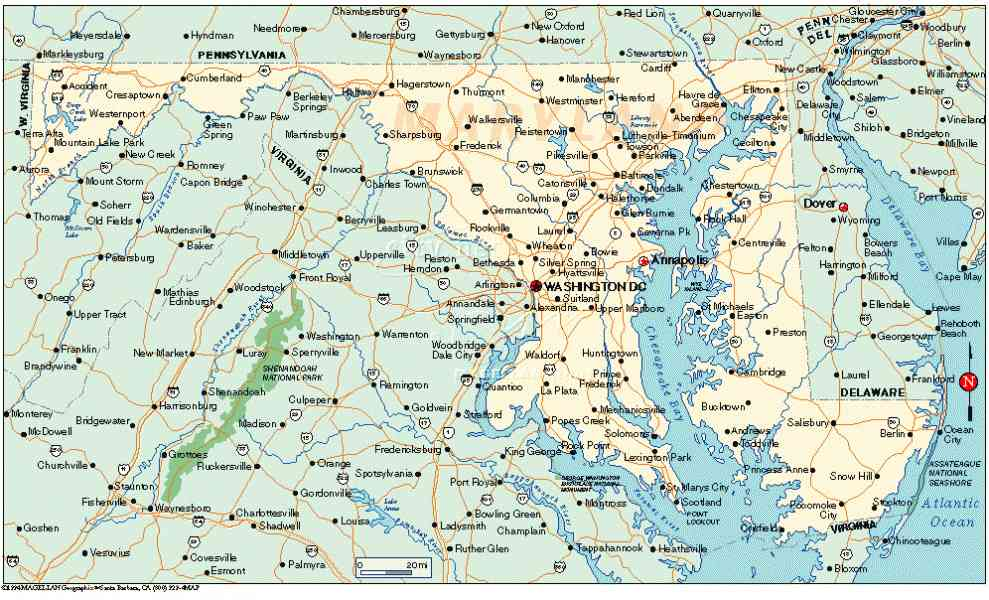 map of state of maryland 80 Map Of State Of Maryland