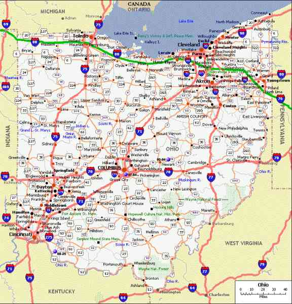 map of state of ohio 542 Map Of State Of Ohio