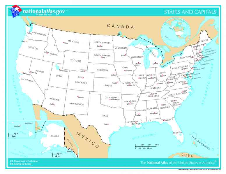 map of states and capitals 146 Map Of States And Capitals