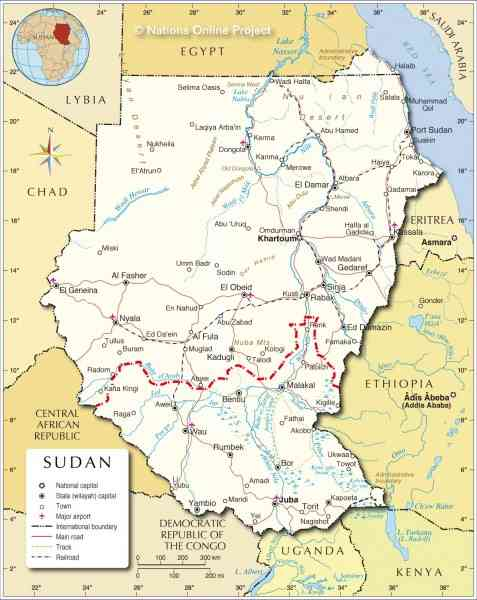 map of sudan 10 Map Of Sudan