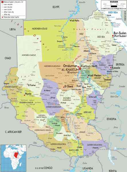 map of sudan 600 Map Of Sudan