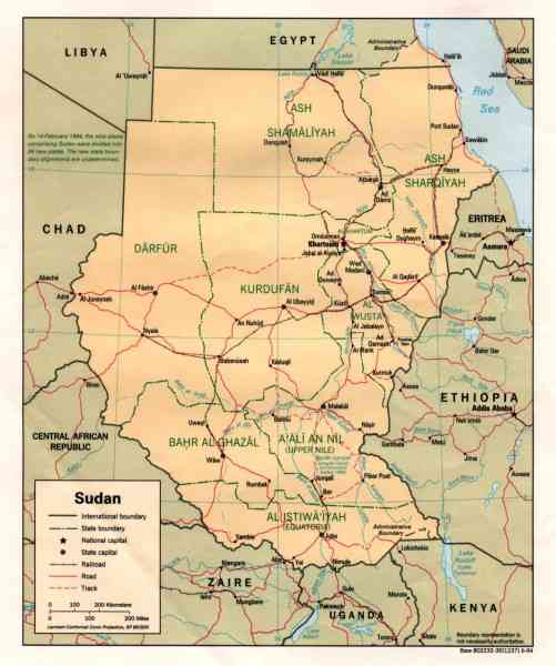 map of sudan 89 Map Of Sudan
