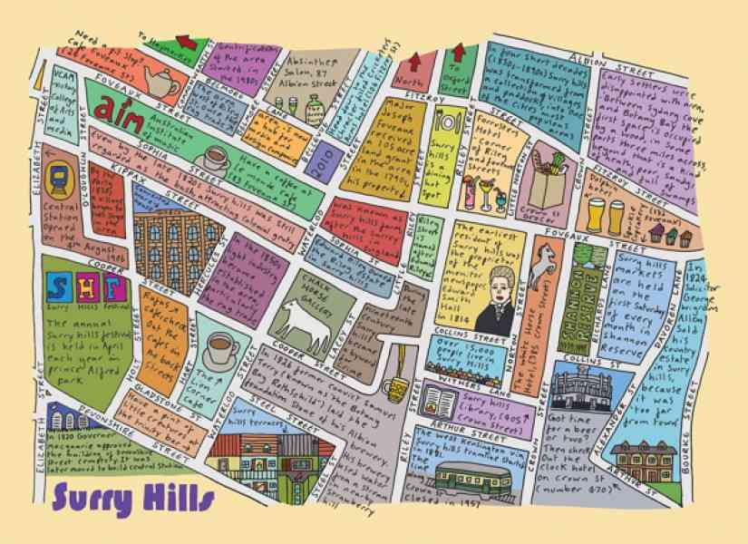 map of surry hills 13 Map Of Surry Hills