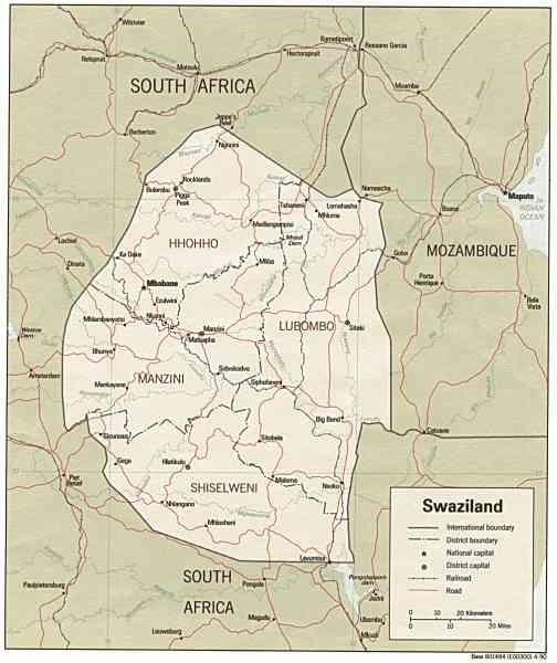 map of swaziland 2 Map Of Swaziland