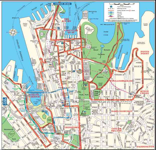 map of sydney cbd 6 Map Of Sydney Cbd