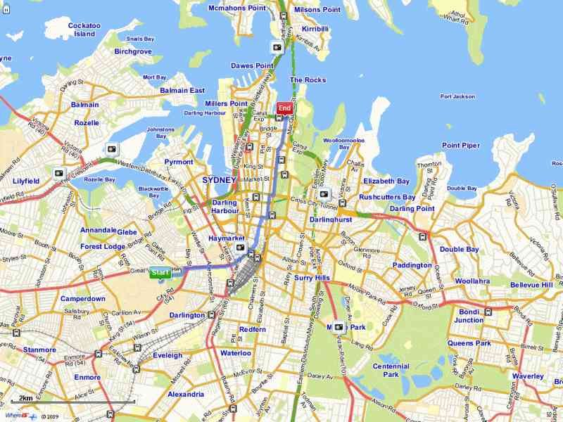Map Of Sydney Cbd Map Holiday Travel HolidayMapQcom