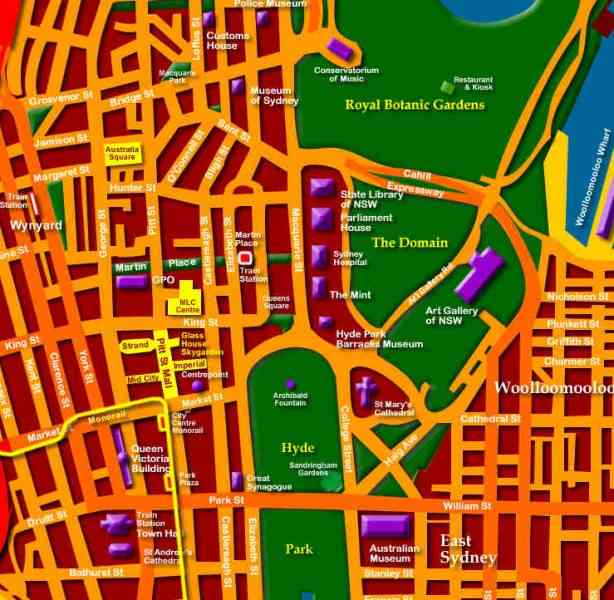 map of sydney cbd 279 Map Of Sydney Cbd