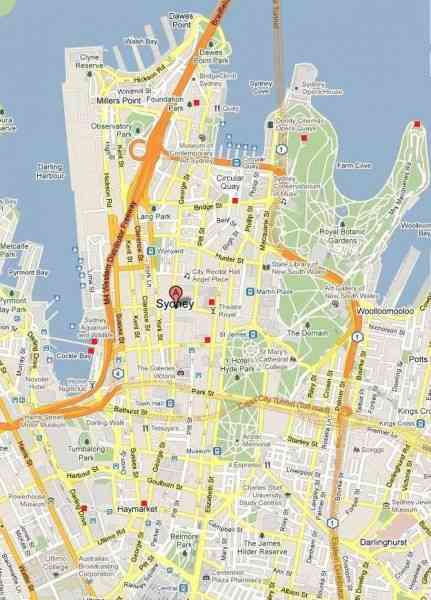 map of sydney cbd 38 Map Of Sydney Cbd
