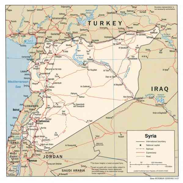 map of syria 480 Map Of Syria