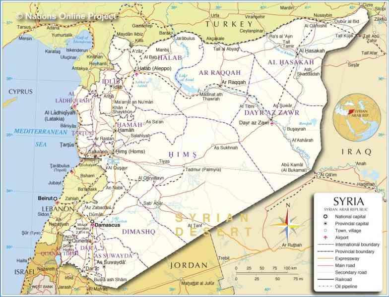 map of syria 628 Map Of Syria