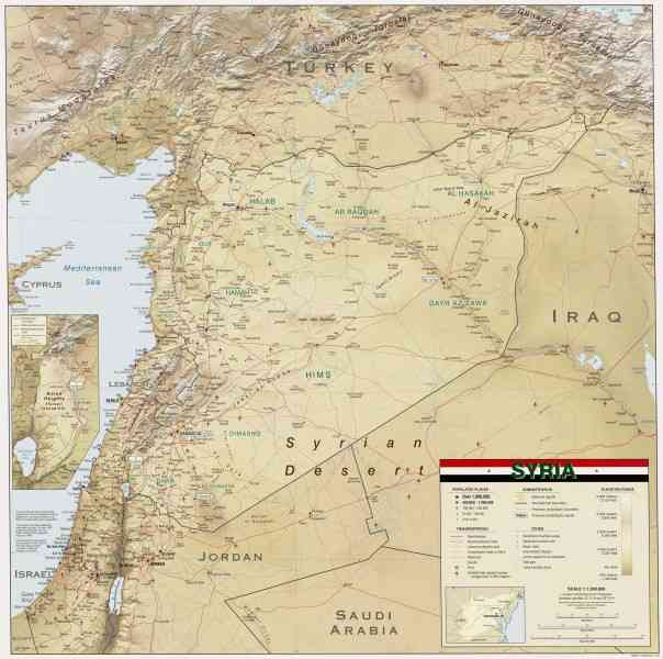 map of syrian 149 Map Of Syrian
