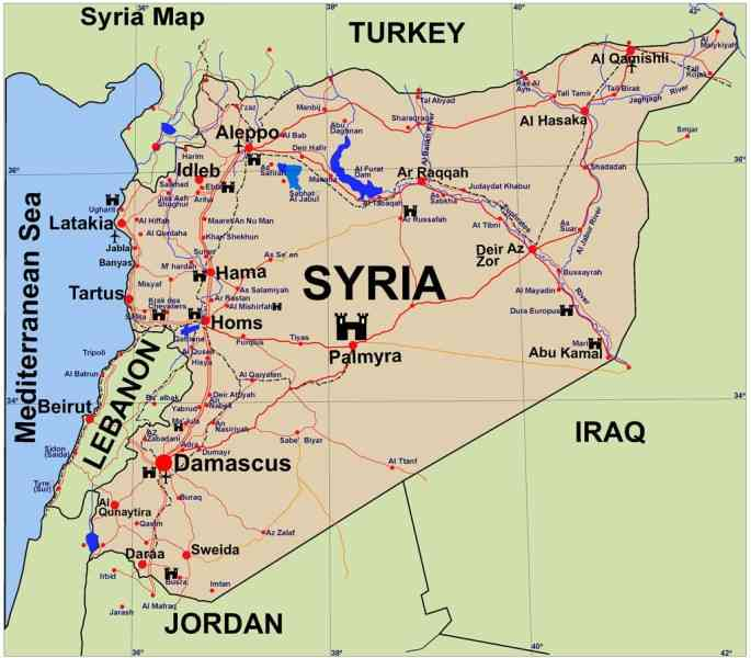 map of syrian 48 Map Of Syrian