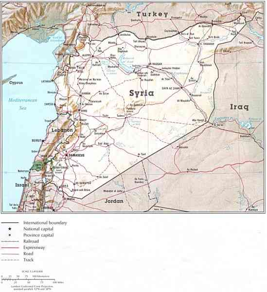 map of syrian 589 Map Of Syrian