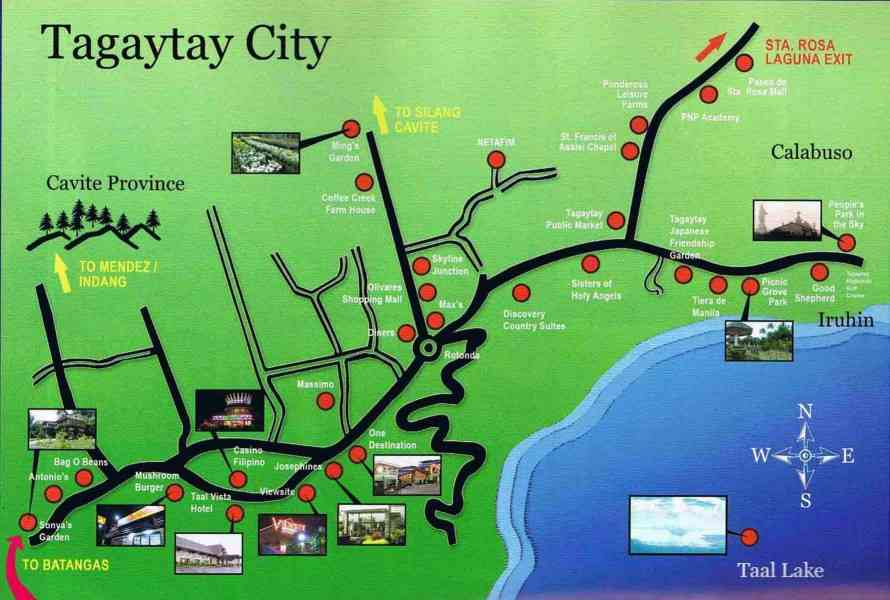 map of tagaytay 7 Map Of Tagaytay