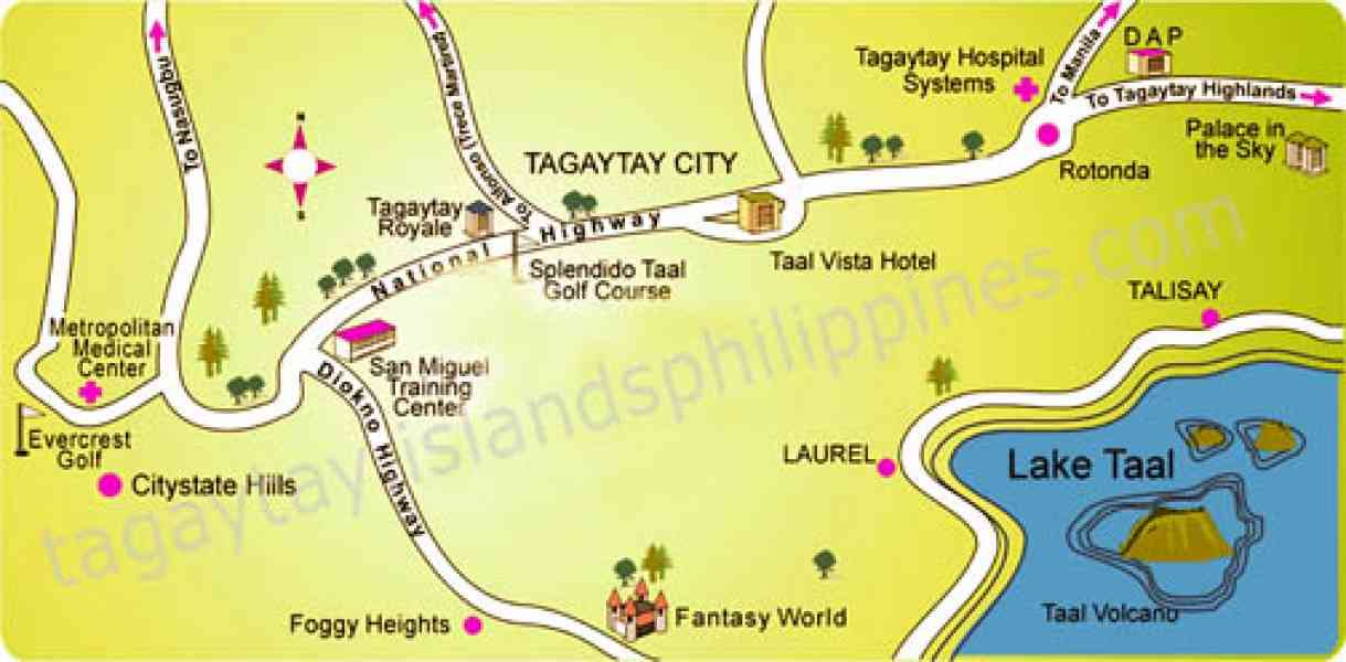 map of tagaytay 139 Map Of Tagaytay