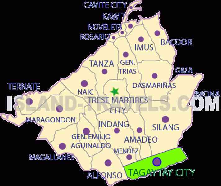 map of tagaytay 596 Map Of Tagaytay