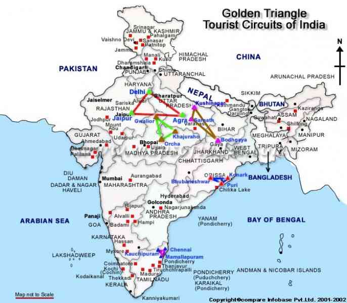 map of the golden triangle 40 Map Of The Golden Triangle