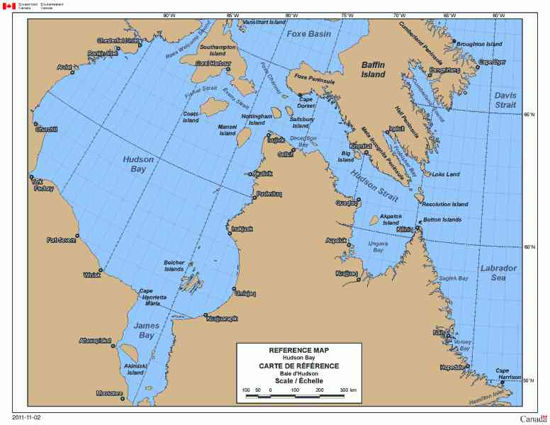 Map of the hudson bay for Hudson bay fishing