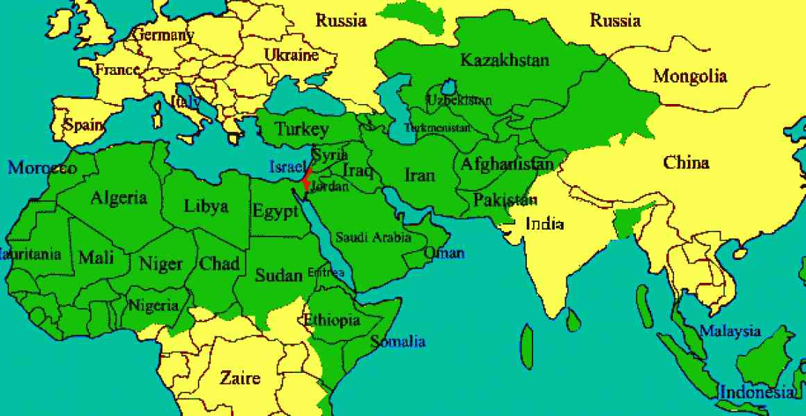 map of the islamic world 7 Map Of The Islamic World