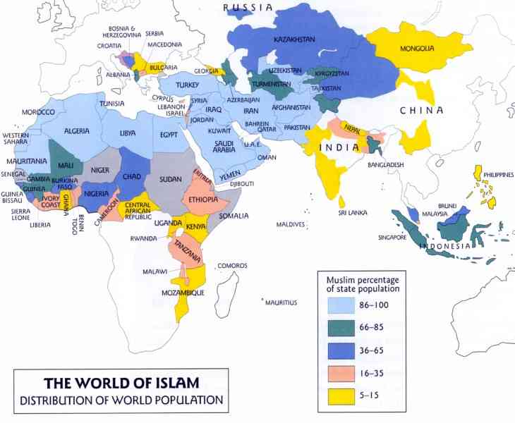 map of the islamic world 92 Map Of The Islamic World