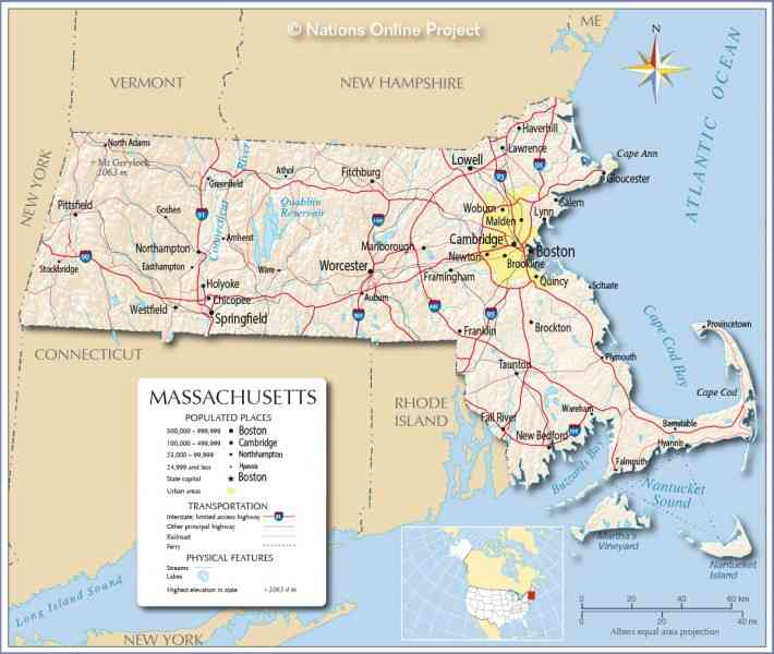 map of the massachusetts 187 Map Of The Massachusetts