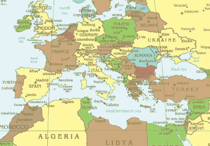map of the mediterranean 2 Map Of The Mediterranean
