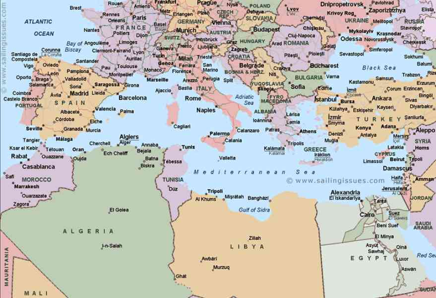 map of the mediterranean 324 Map Of The Mediterranean