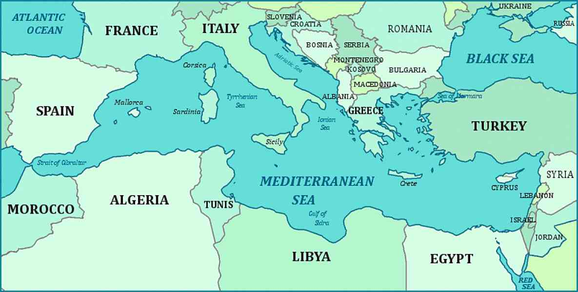 map of the mediterranean 557 Map Of The Mediterranean