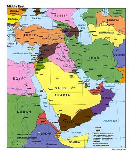 map of the middle east 7 Map Of The Middle East