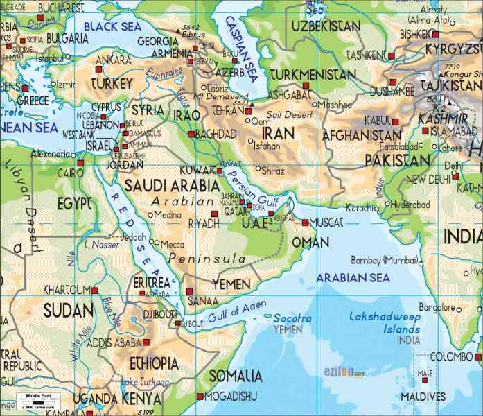 map of the middle east 309 Map Of The Middle East