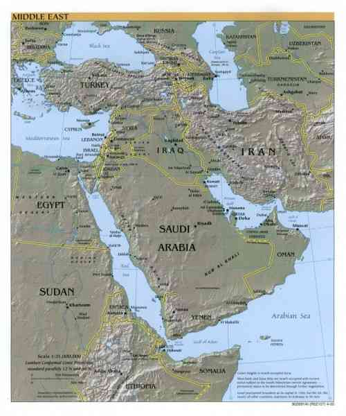 map of the middle east 145 Map Of The Middle East