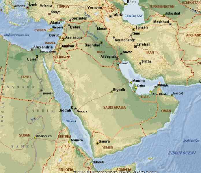 Map Of The Middle East And Egypt Map Holiday Travel - Map of egypt and middle east