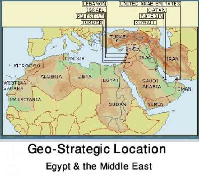 Map Of The Middle East And Egypt  Map  Holiday  Travel