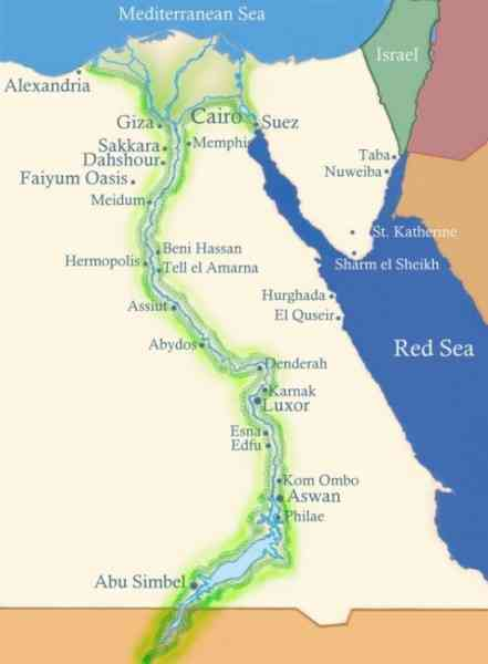 map of the nile river in egypt 10 Map Of The Nile River In Egypt