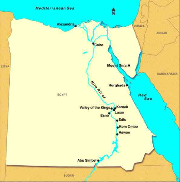 map of the nile river in egypt 58 Map Of The Nile River In Egypt