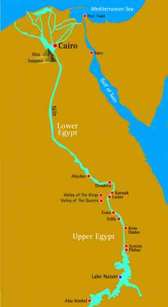 map of the nile river in egypt 237 Map Of The Nile River In Egypt