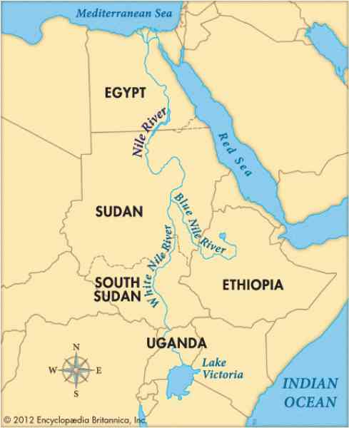 map of the nile river in egypt 396 Map Of The Nile River In Egypt