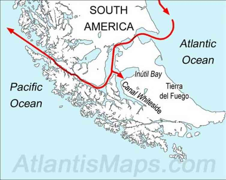 Map Of The Strait Of Magellan   HolidayMapQ.®