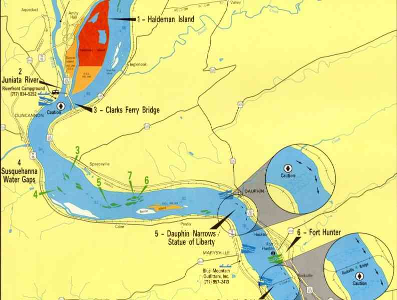 Map of the susquehanna river for Susquehanna river fishing